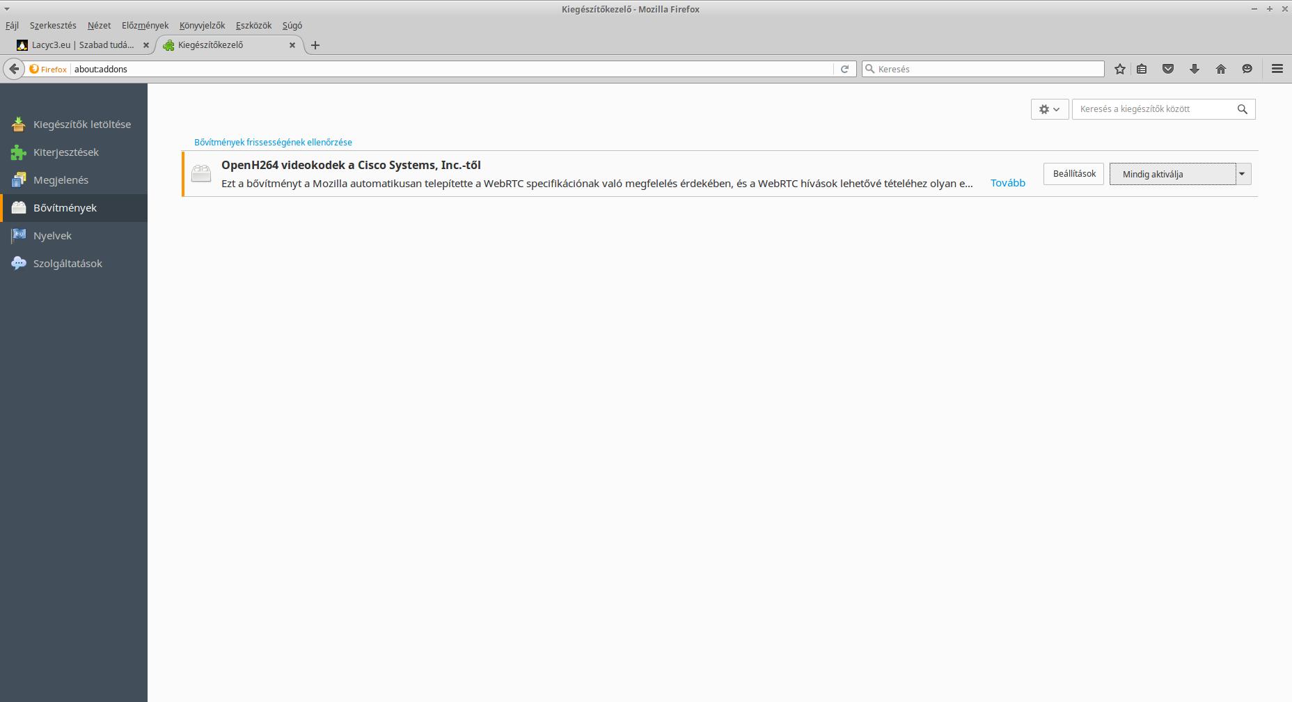 Firefox bővítmények