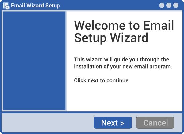 e-mail kliens telepítő