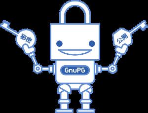 GnuPG kulcspár illusztráció
