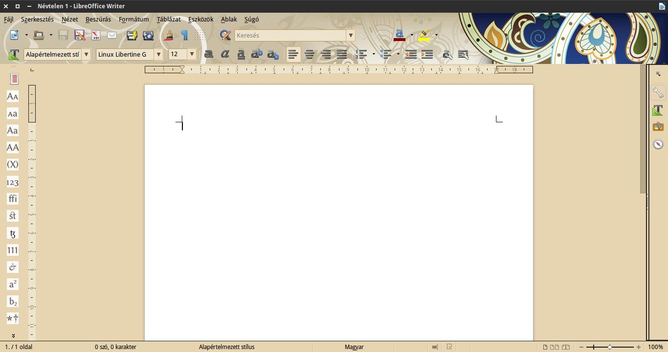 saját LibreOffice