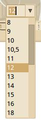 LibreOffice betűméretek