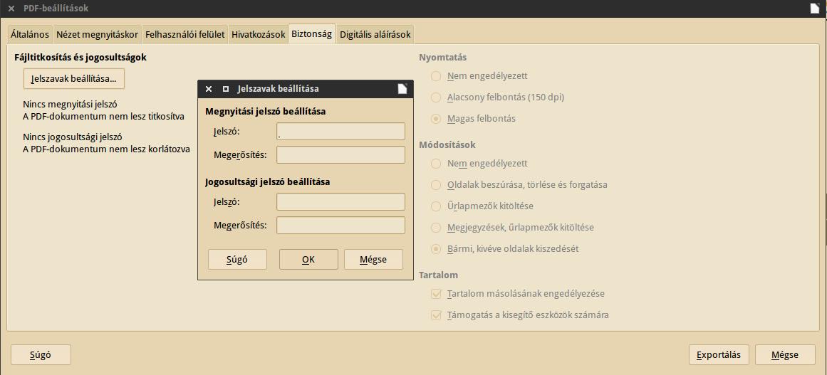 PDF jelszó
