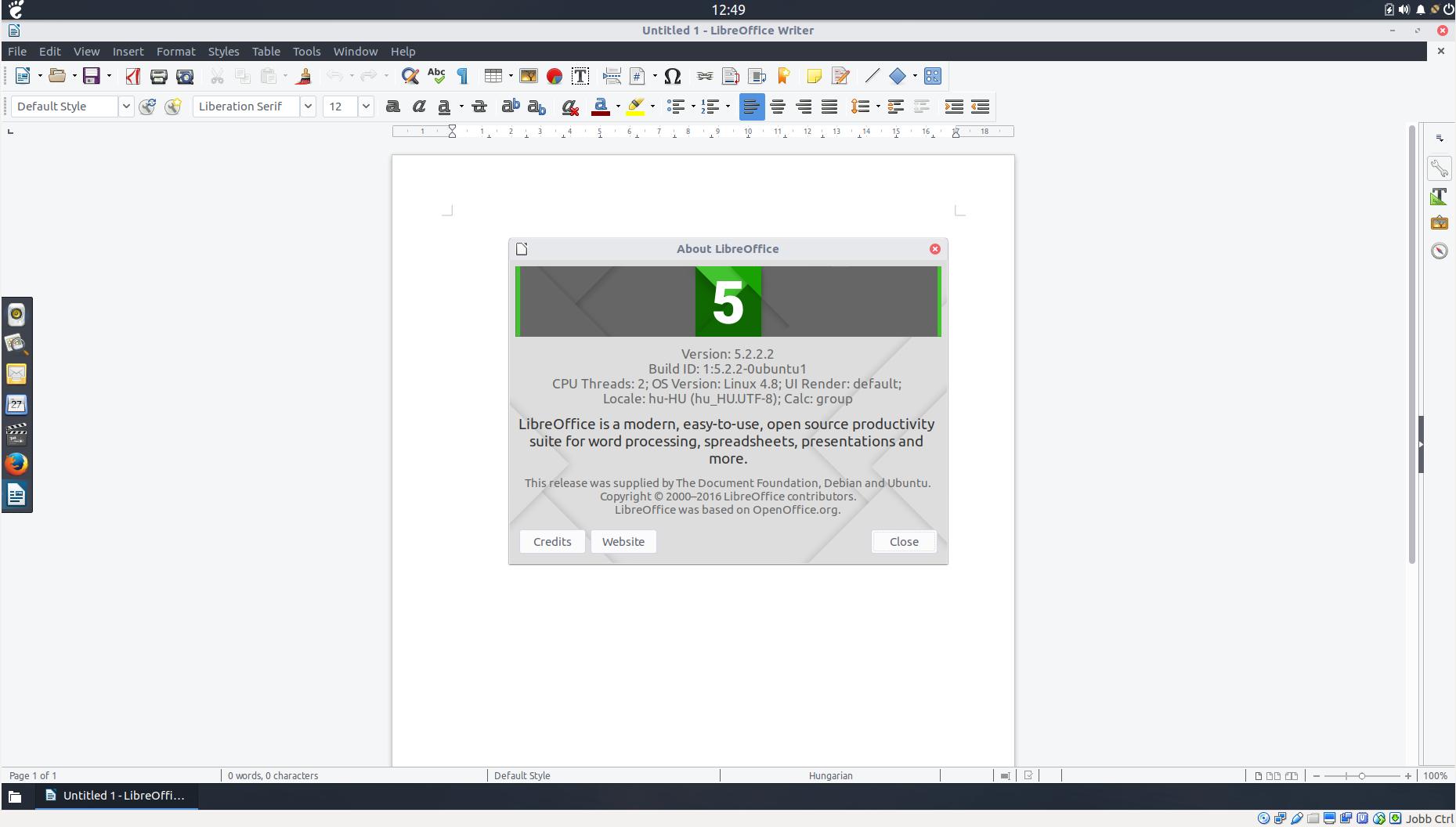 LibreOffice 5.2.2.2