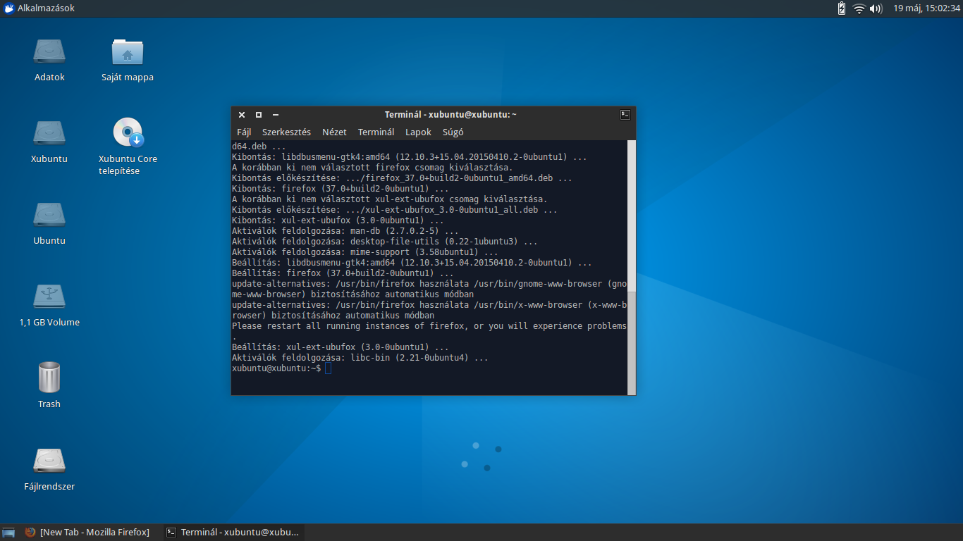 Xubuntu Core - Kissé belakva