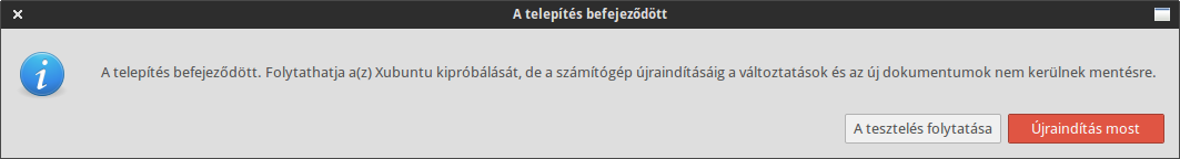 Xubuntu Core telepítő