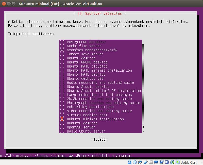 Xubuntu Core minimal.iso telepítés