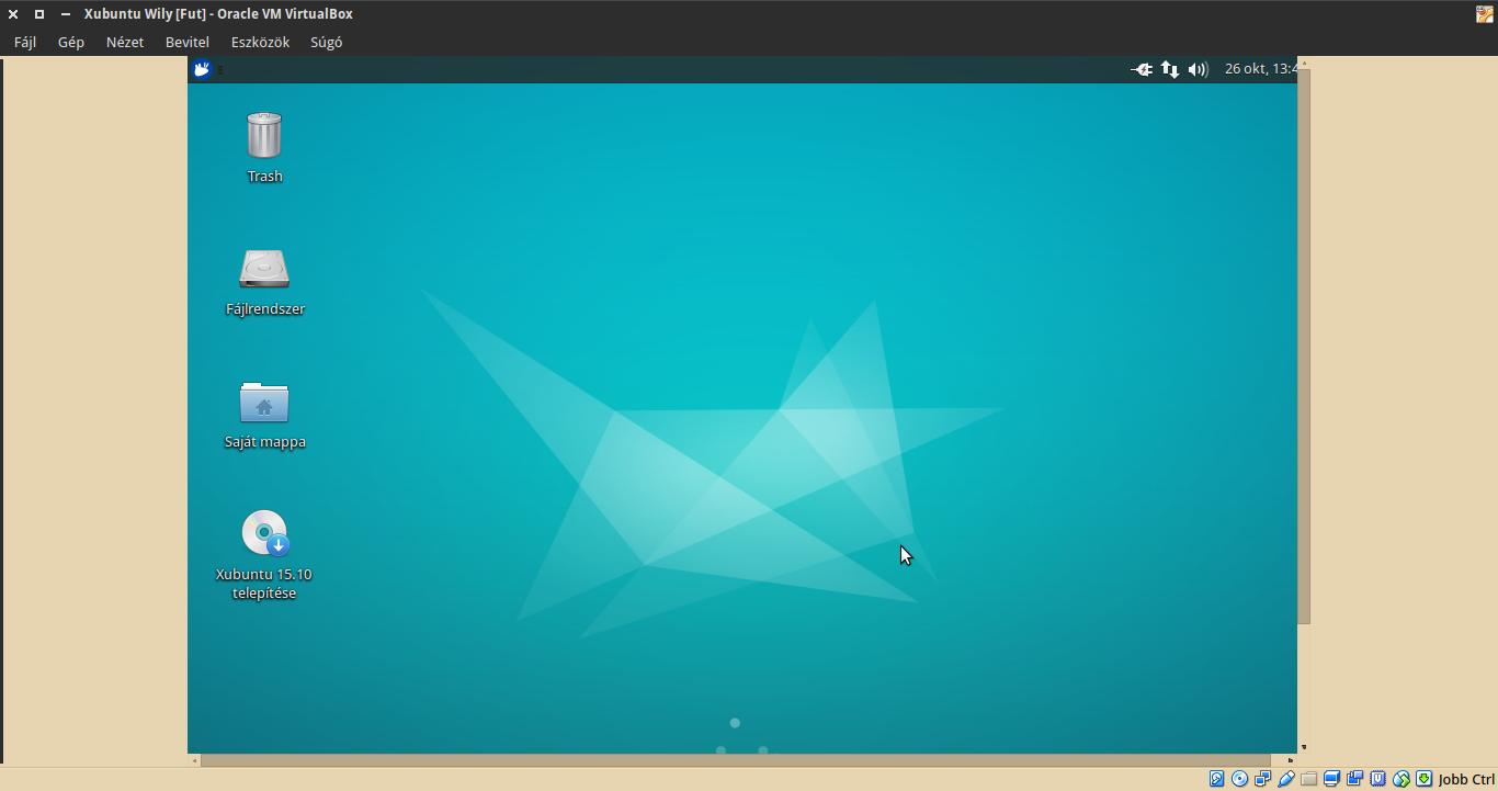 Xubuntu LiveCD VirtualBox felbontás