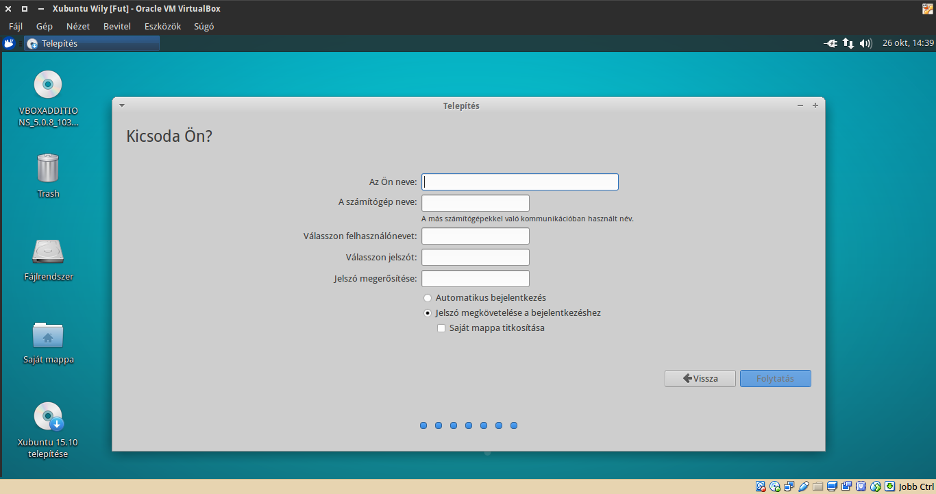 Xubuntu 15.10 telepítés