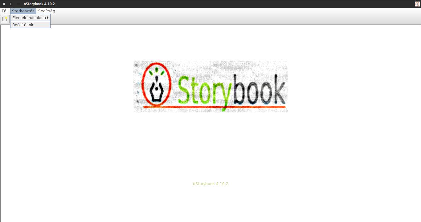 oStorybook alaphelyzet: szerkesztés menü