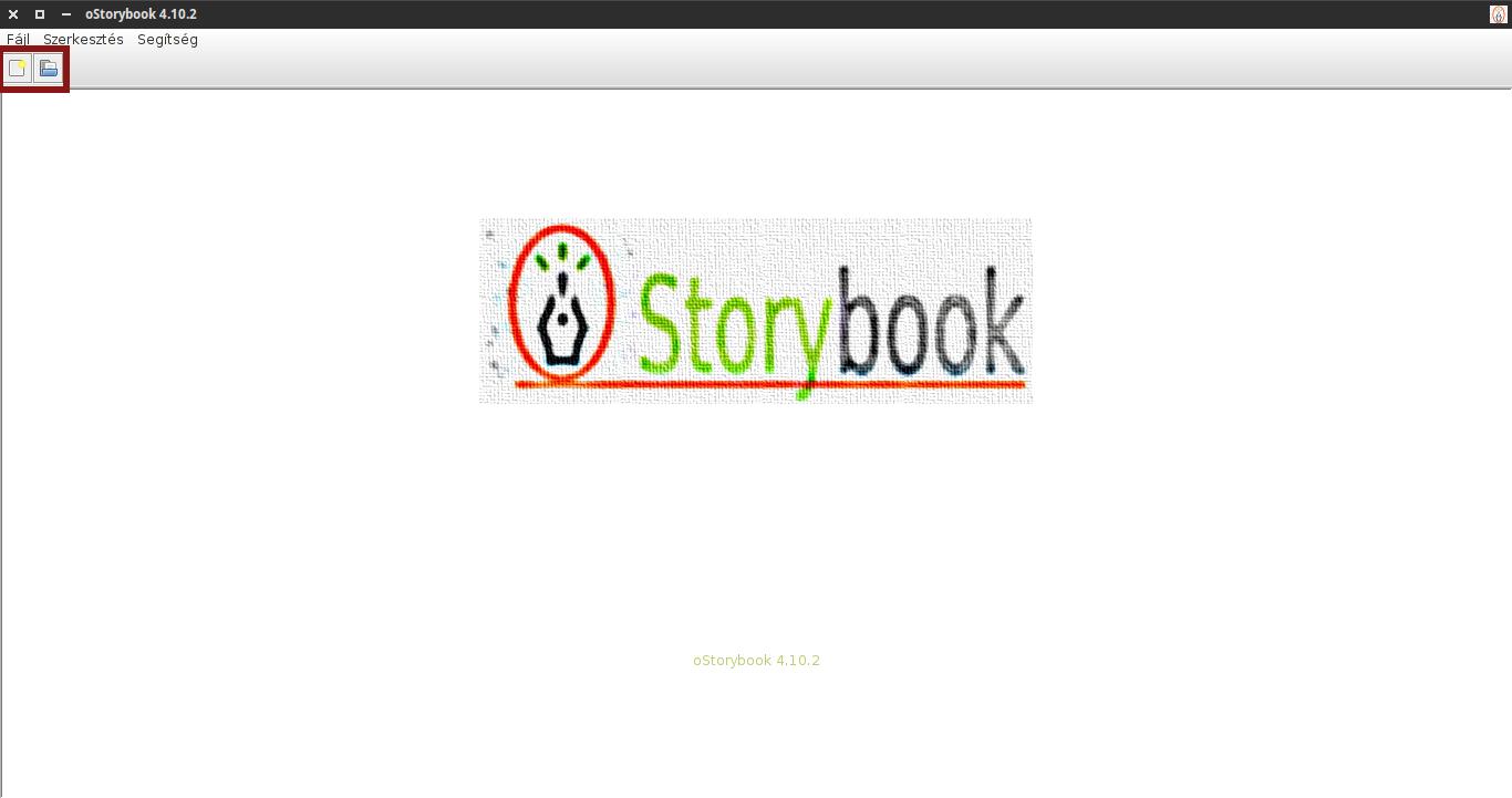 oStorybook alaphelyzet eszköztár