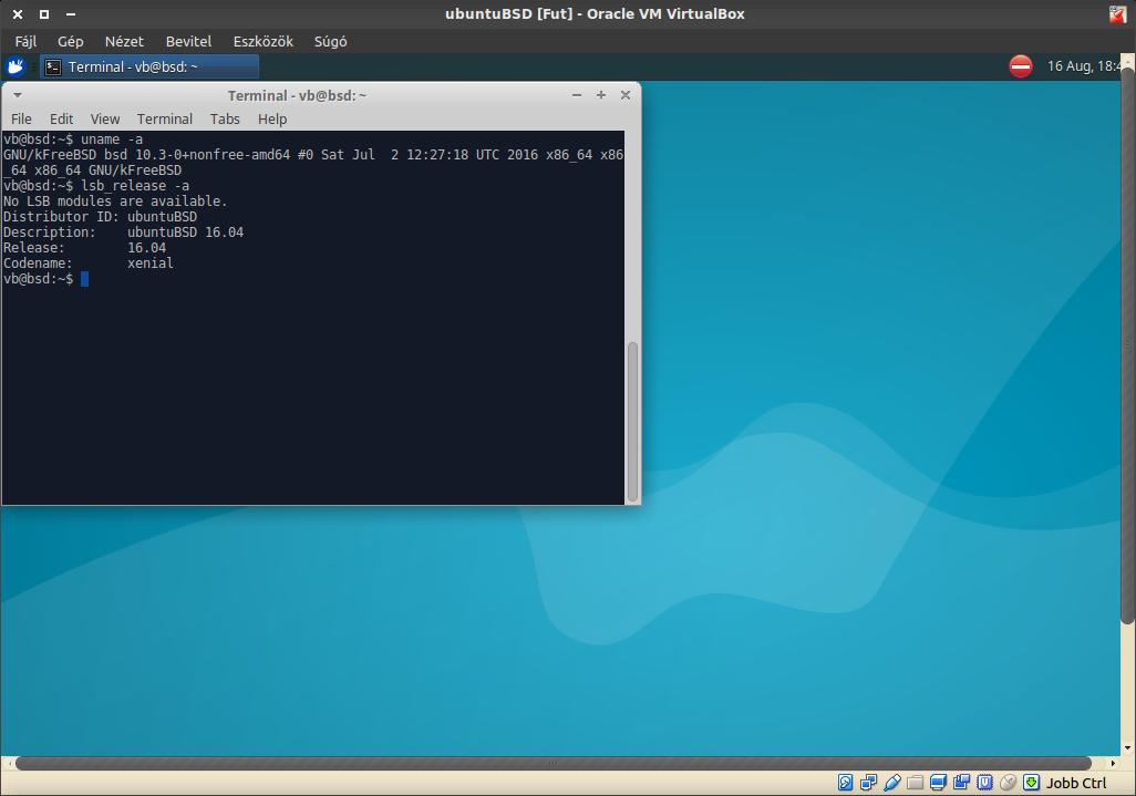 UbuntuBSD verzió, kernel