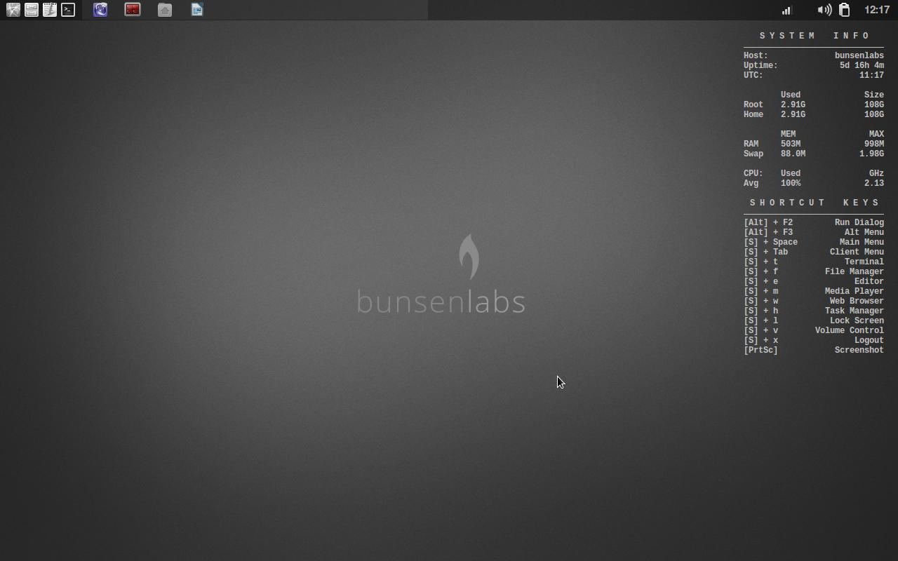 BunsenLabs RAM