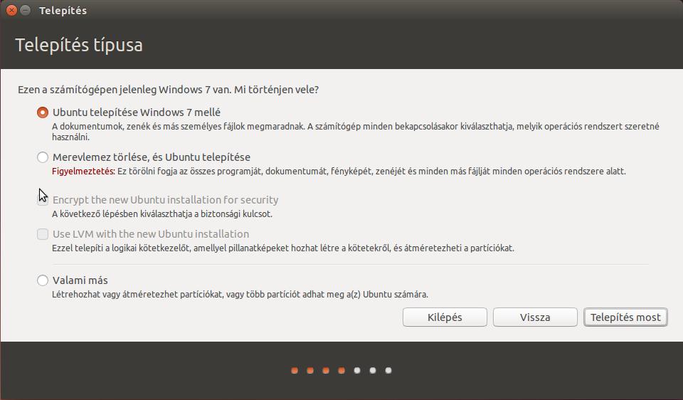Ubuntu telepítő