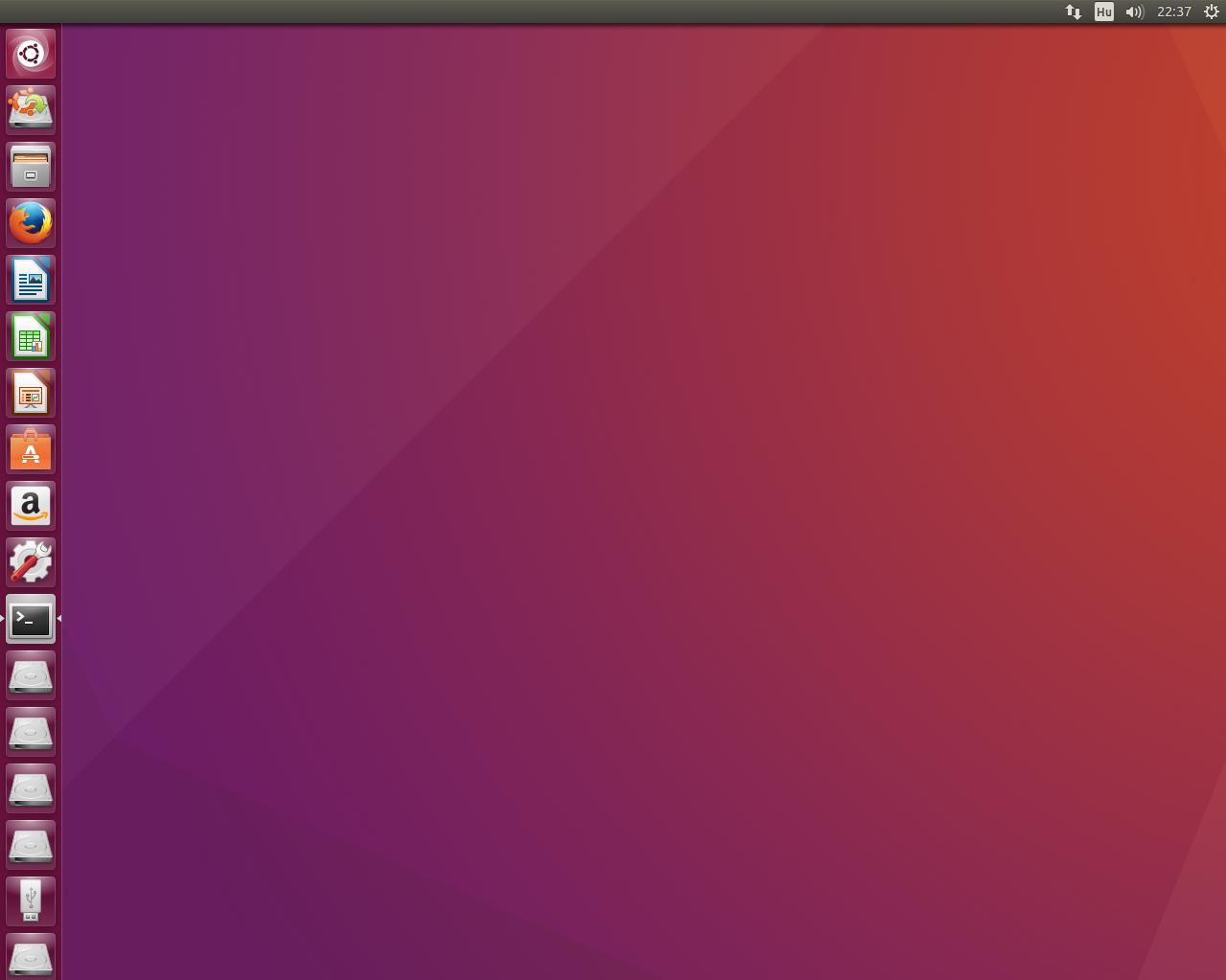 Ubuntu 16.04 LTS asztal