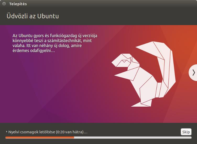 üdvözli az Ubuntu