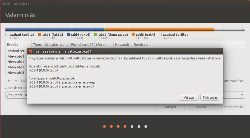 Ubuntu 17.04 - Particionáló 3