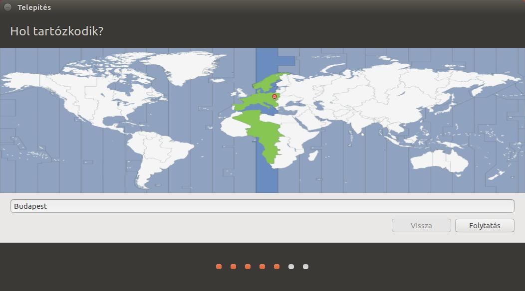 Ubuntu 17.04 - Lokáció