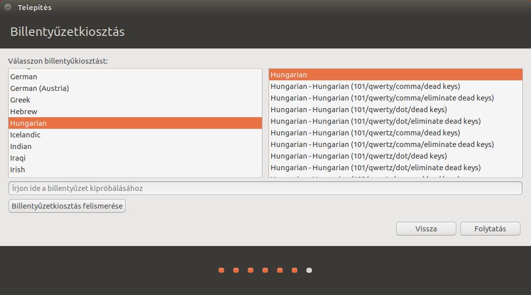 Ubuntu 17.04 - Billentyűzetkiosztás