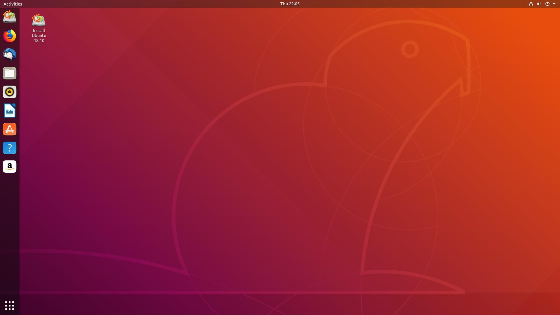Ubuntu 18.10 asztal