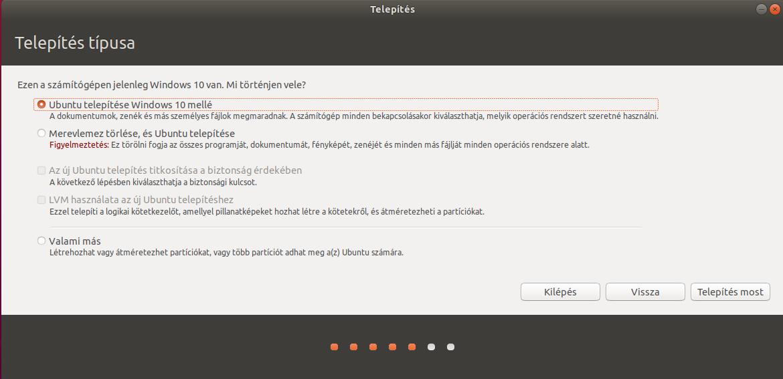 Ubuntu Telepítő - Nem tud titkosítást