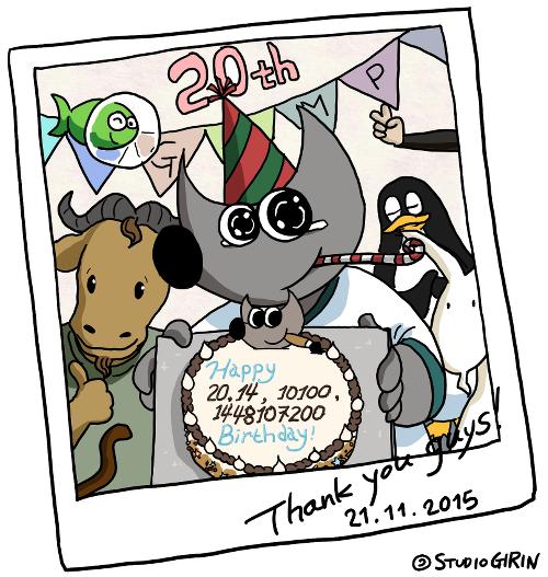 Gimp 20. születésnapi képregény
