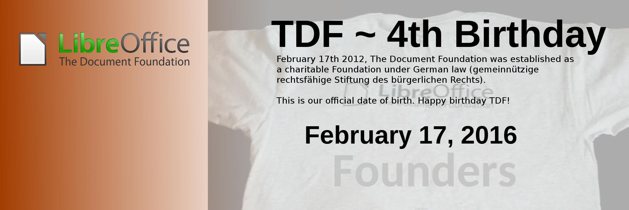 TDF 4. születésnap