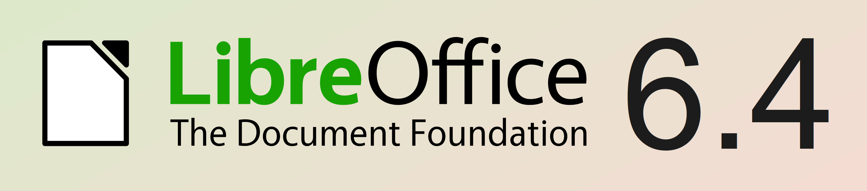 LibreOffice 6.4 banner