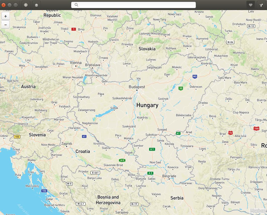 Gnome térkép alkalmazás