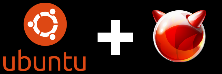 Ubuntu + BSD logók