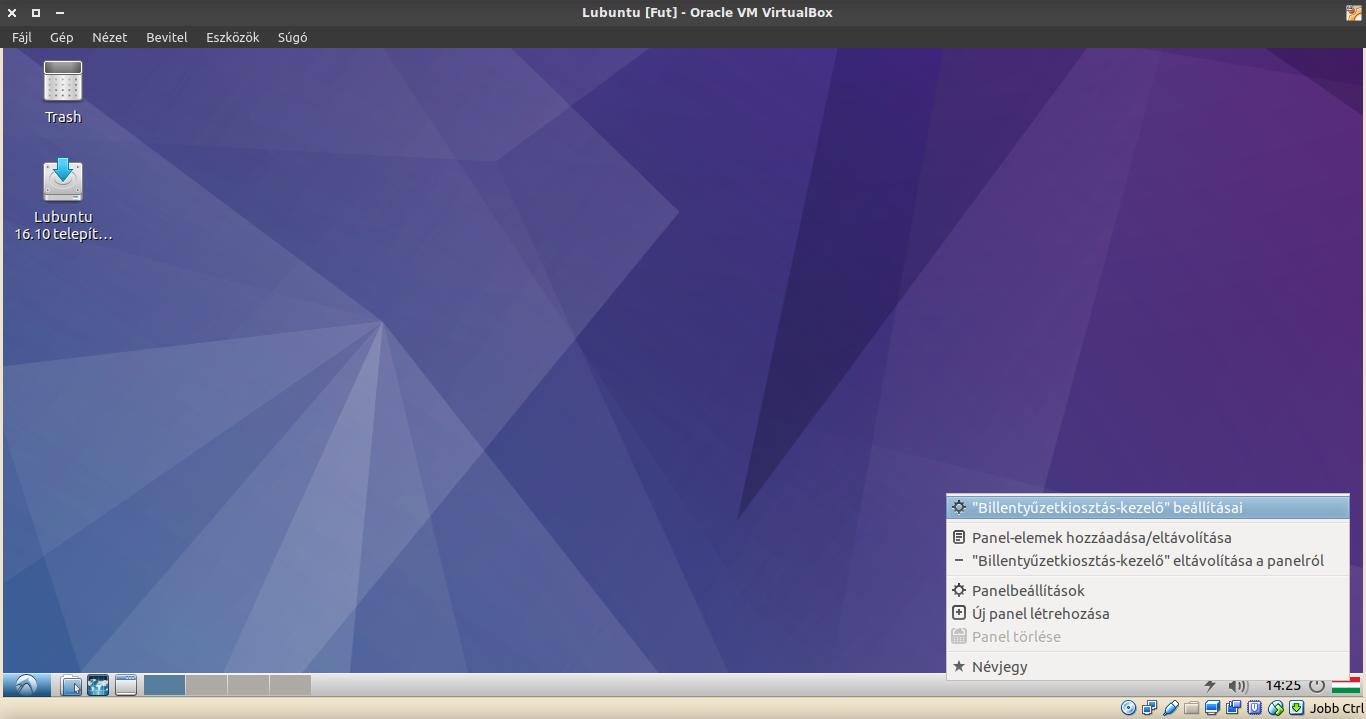 Lubuntu: Billentyűzetkiosztás-kezelő beállításai