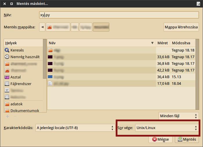 Linuxos sorvégződés beállítás geditben/Plumában