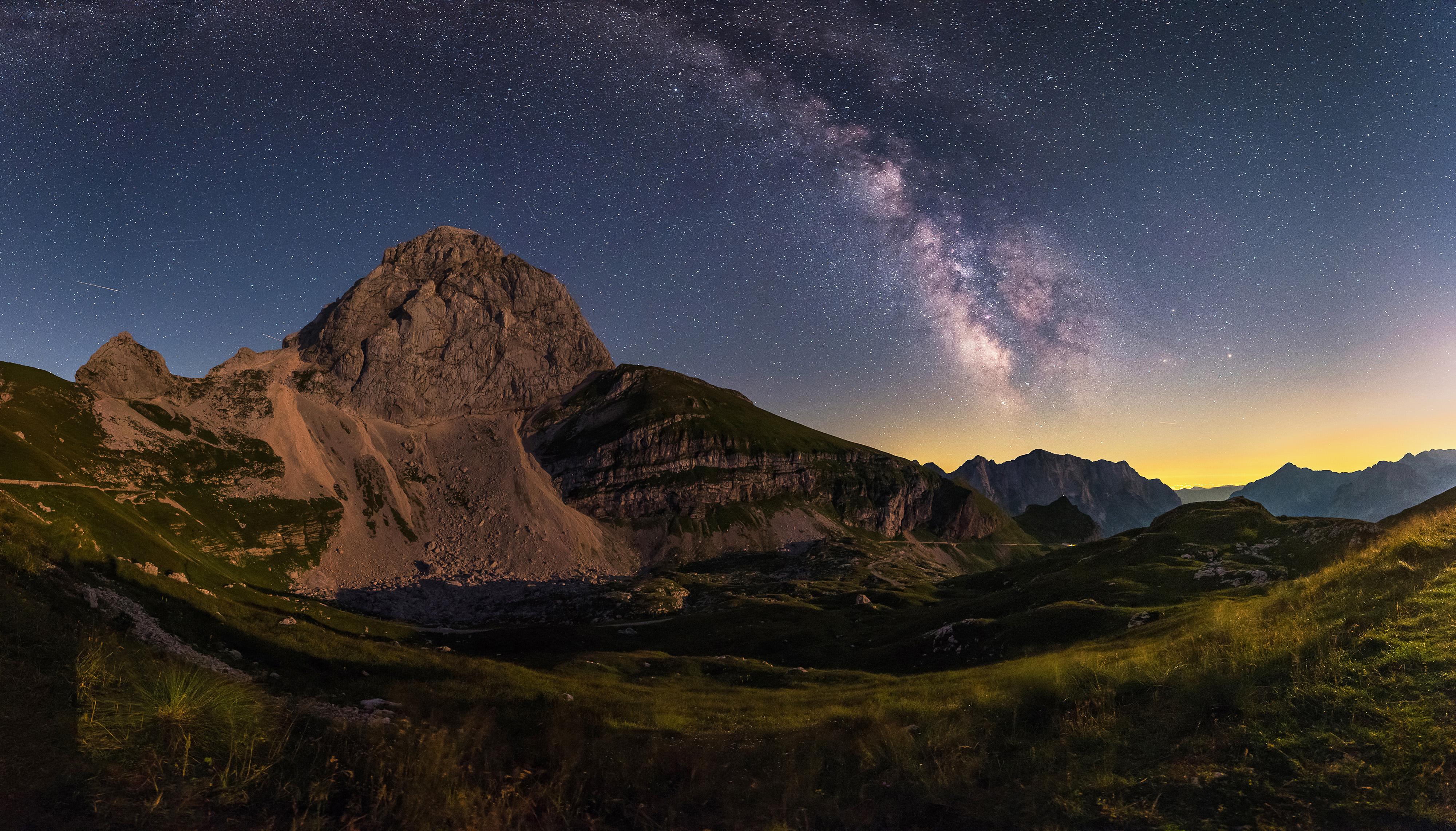 Milky Way over the Mangart