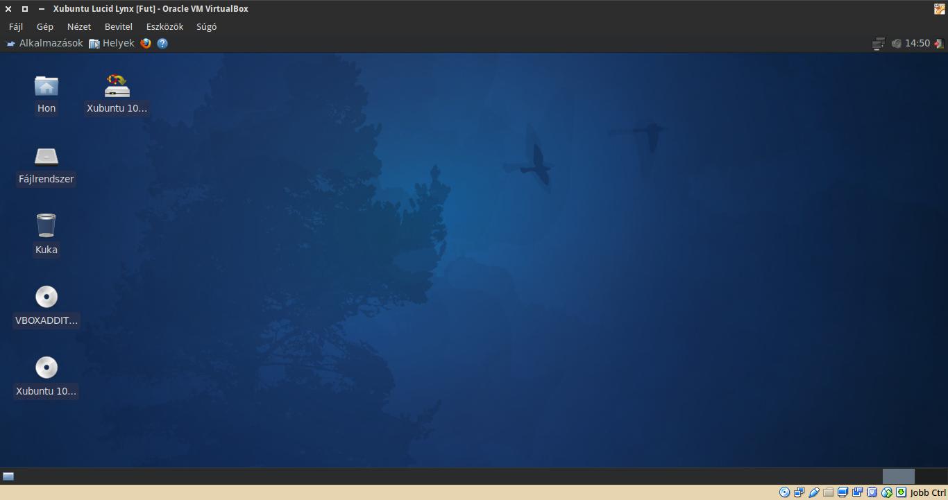 Xubuntu 10.04 asztal
