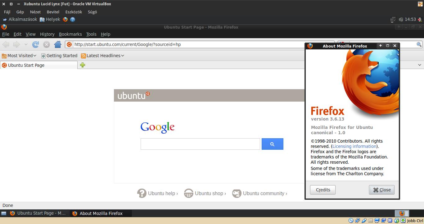 Xubuntu 10.04 Firefox