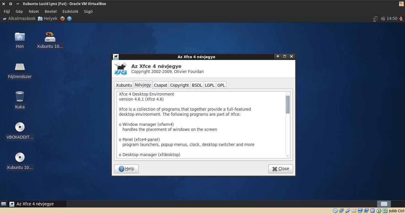 Xubuntu 10.04 névjegy