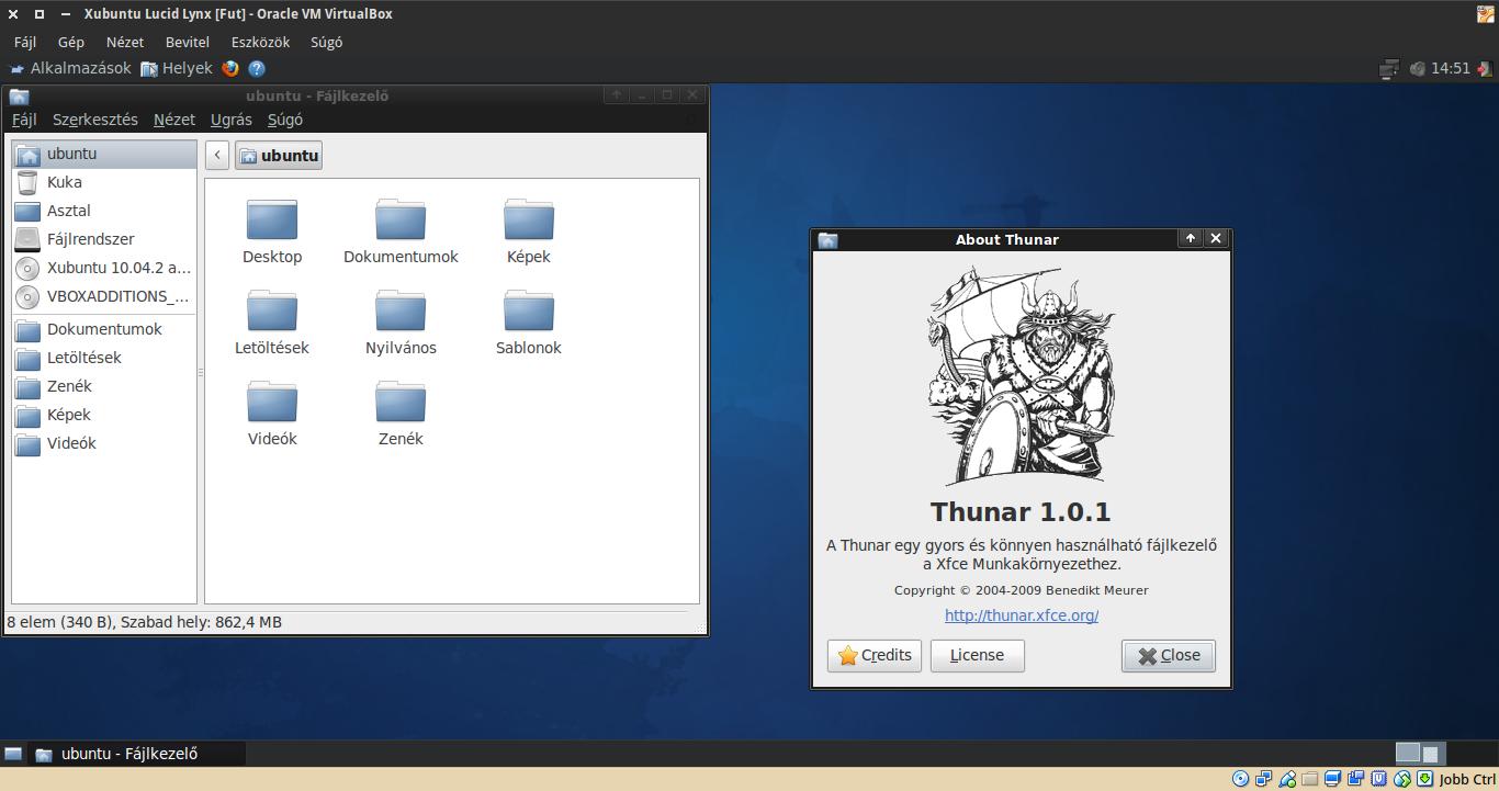 Xubuntu 10.04 Thunar