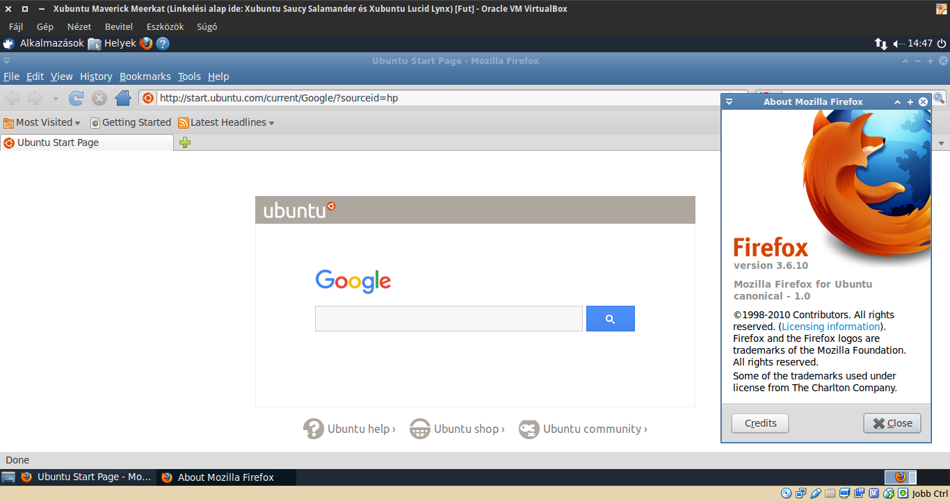 Xubuntu 10.10 Firefox