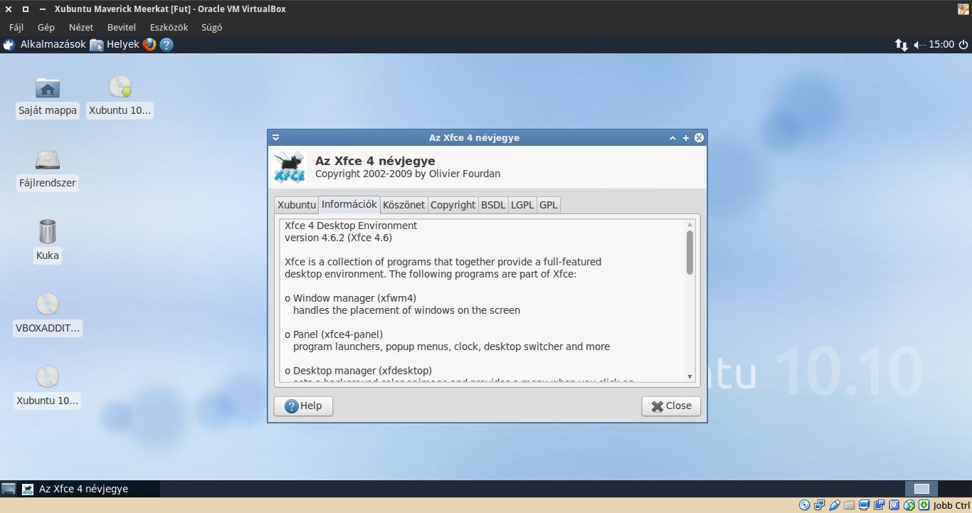 Xubuntu 10.10 névjegy
