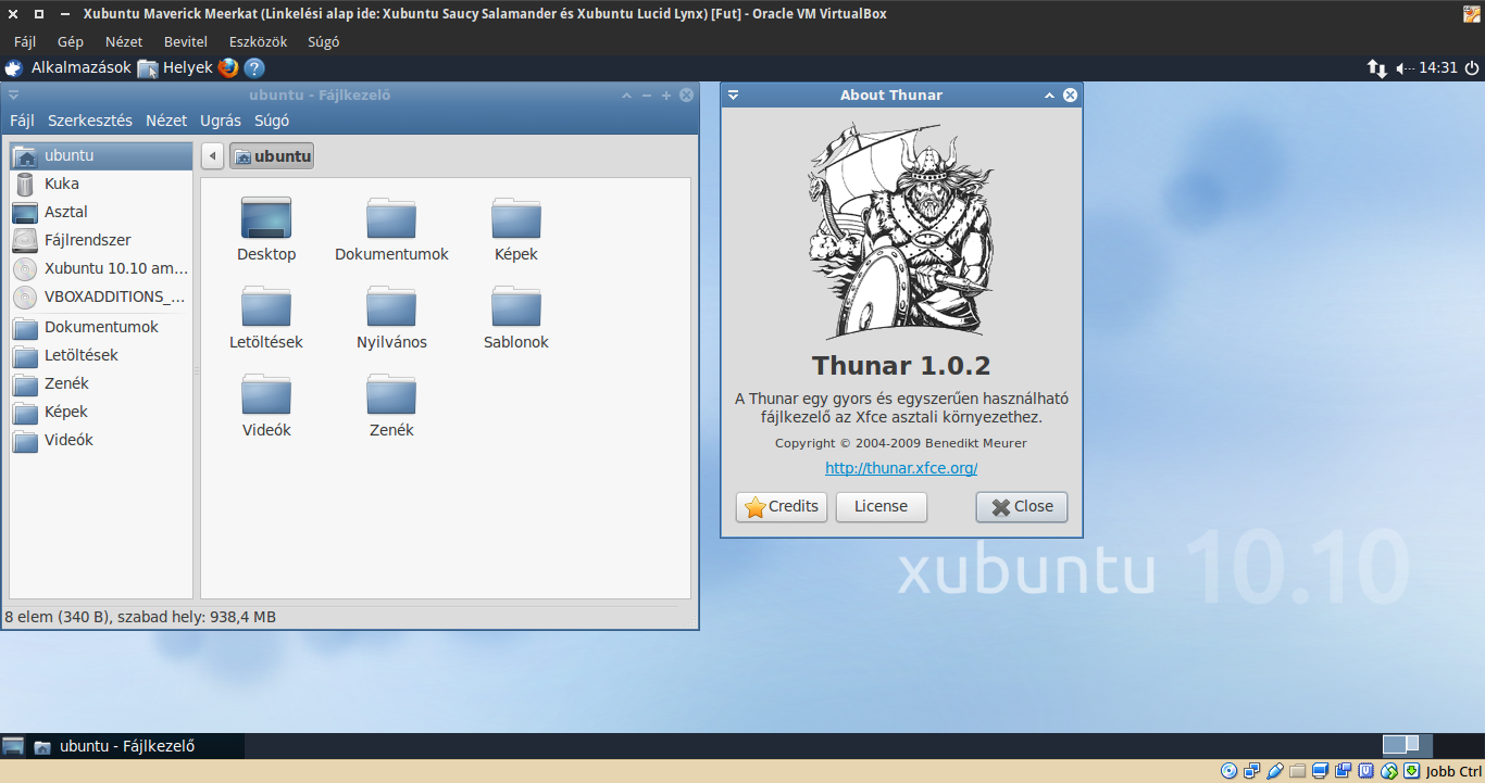Xubuntu 10.10 Thunar