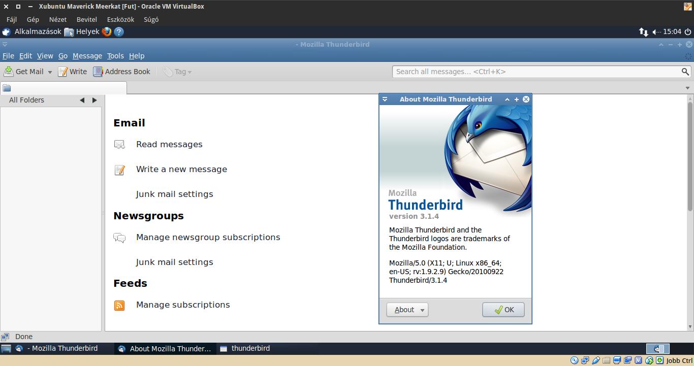 Xubuntu 10.10 Thunderbird