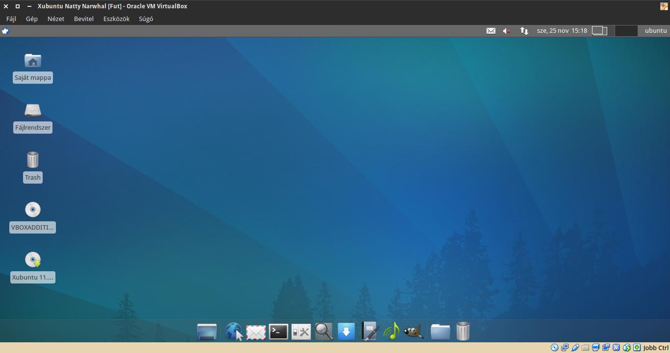 Xubuntu 11.04 asztal