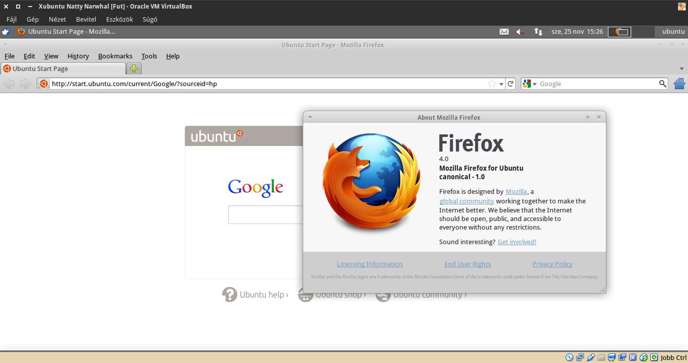 Xubuntu 11.04 Firefox