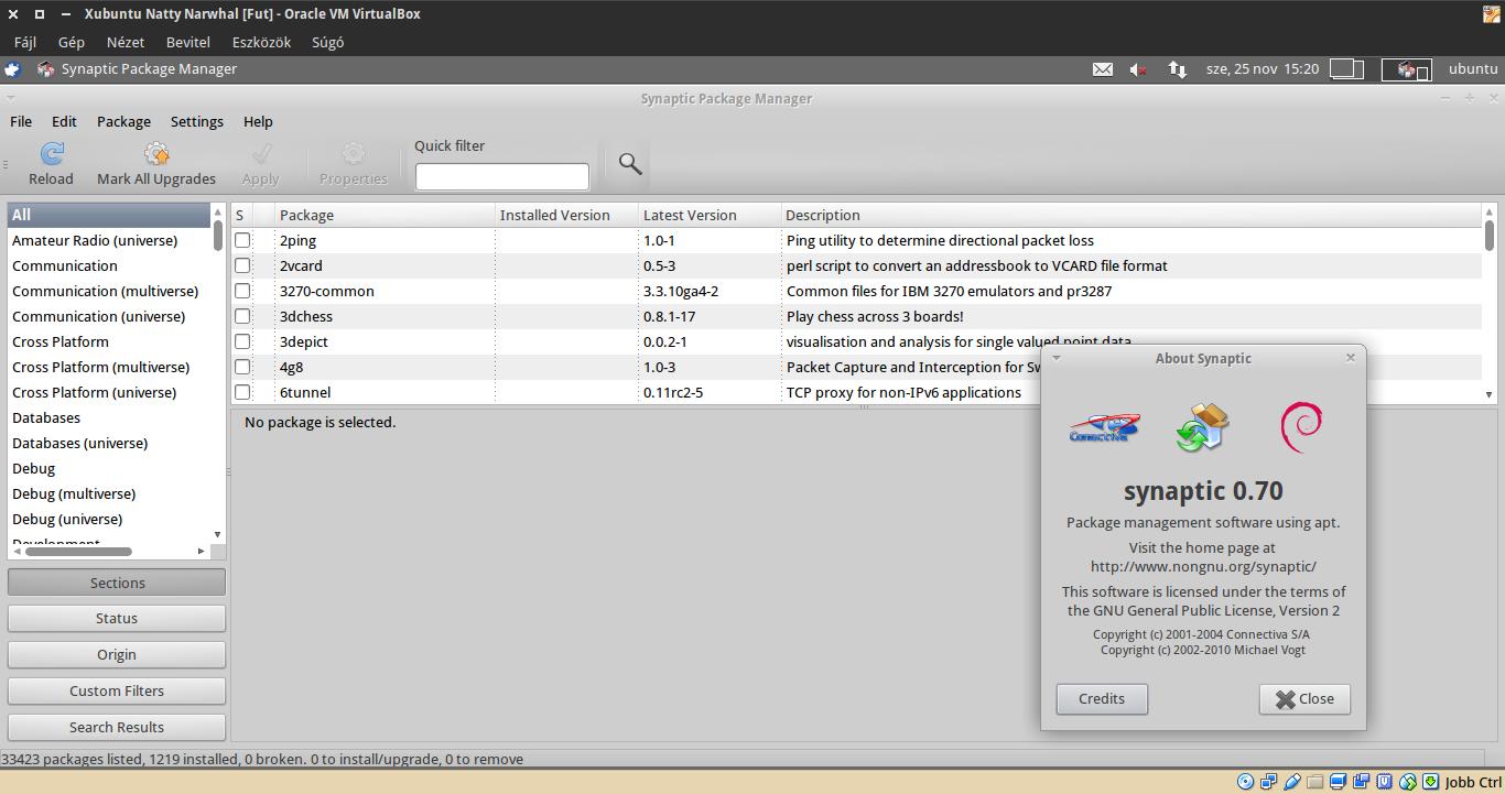 Xubuntu 11.04 Synaptic