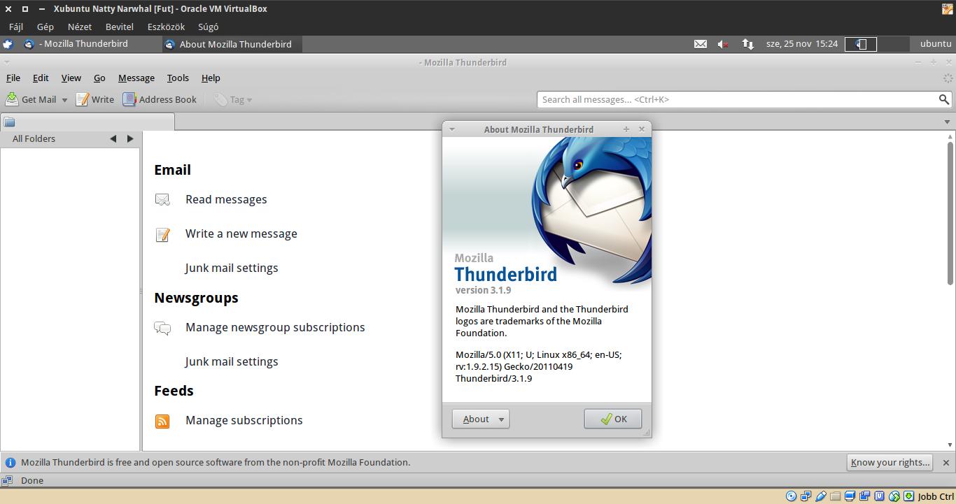 Xubuntu 11.04 Thunderbird