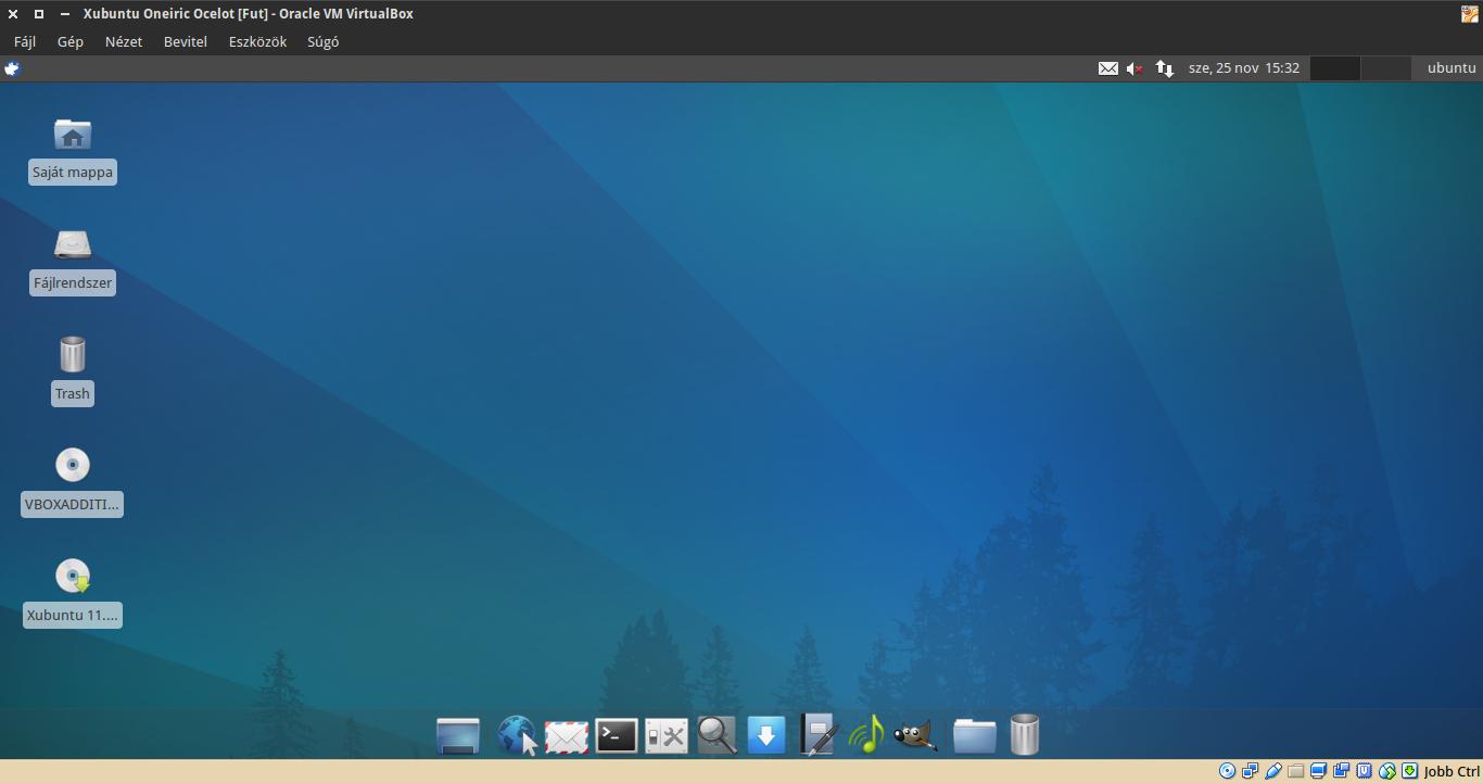 Xubuntu 11.10 asztal