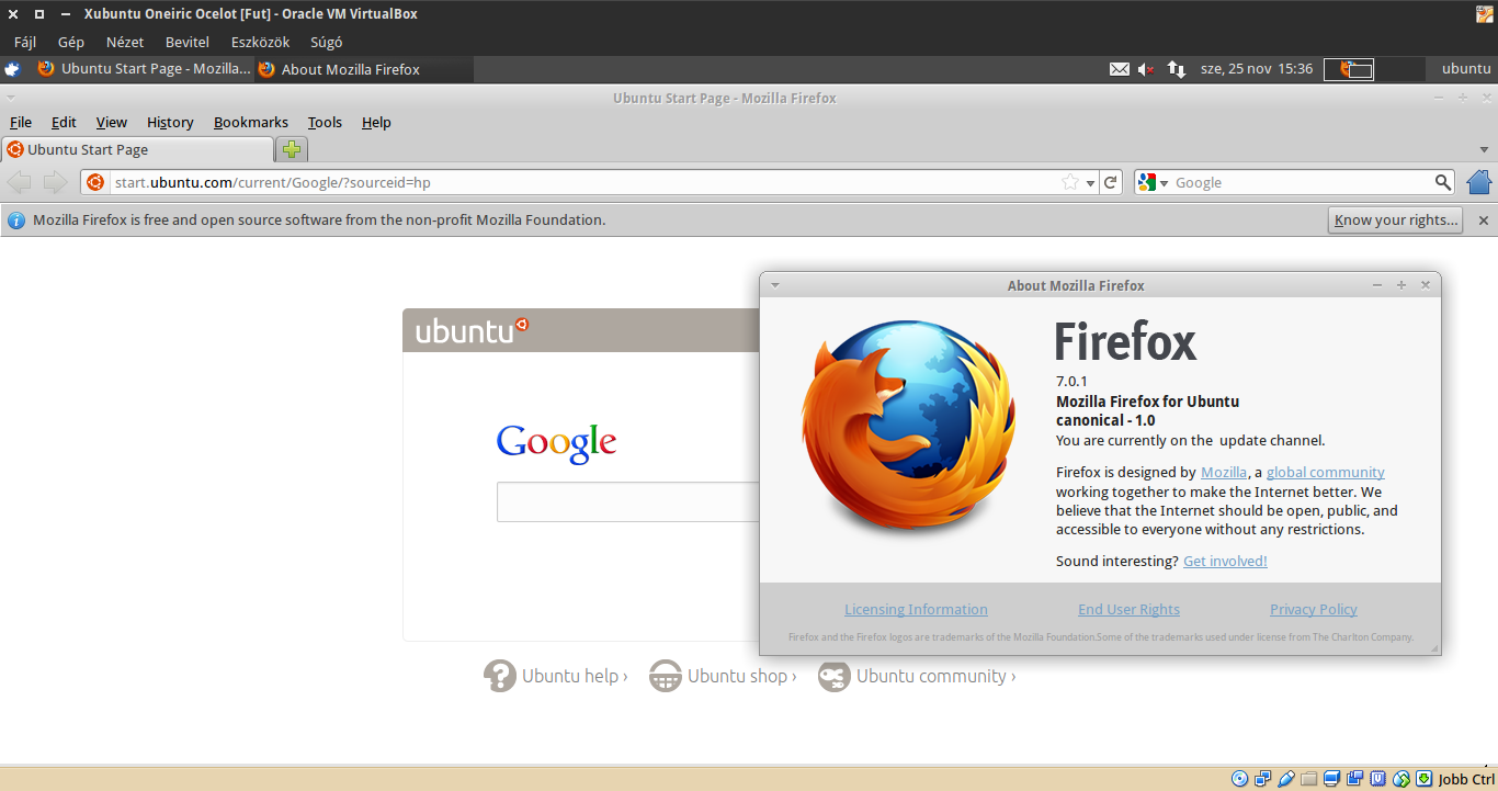 Xubuntu 11.10 Firefox