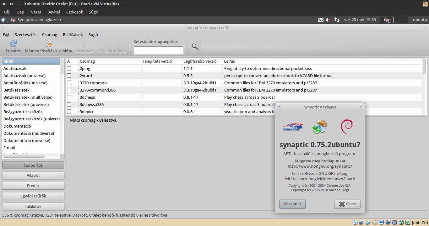 Xubuntu 11.10 Synaptic