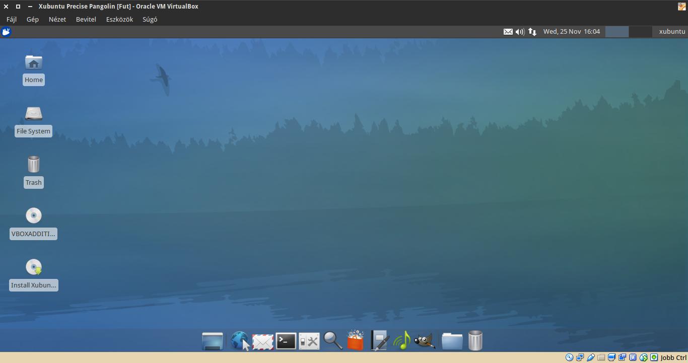 Xubuntu 12.04 asztal