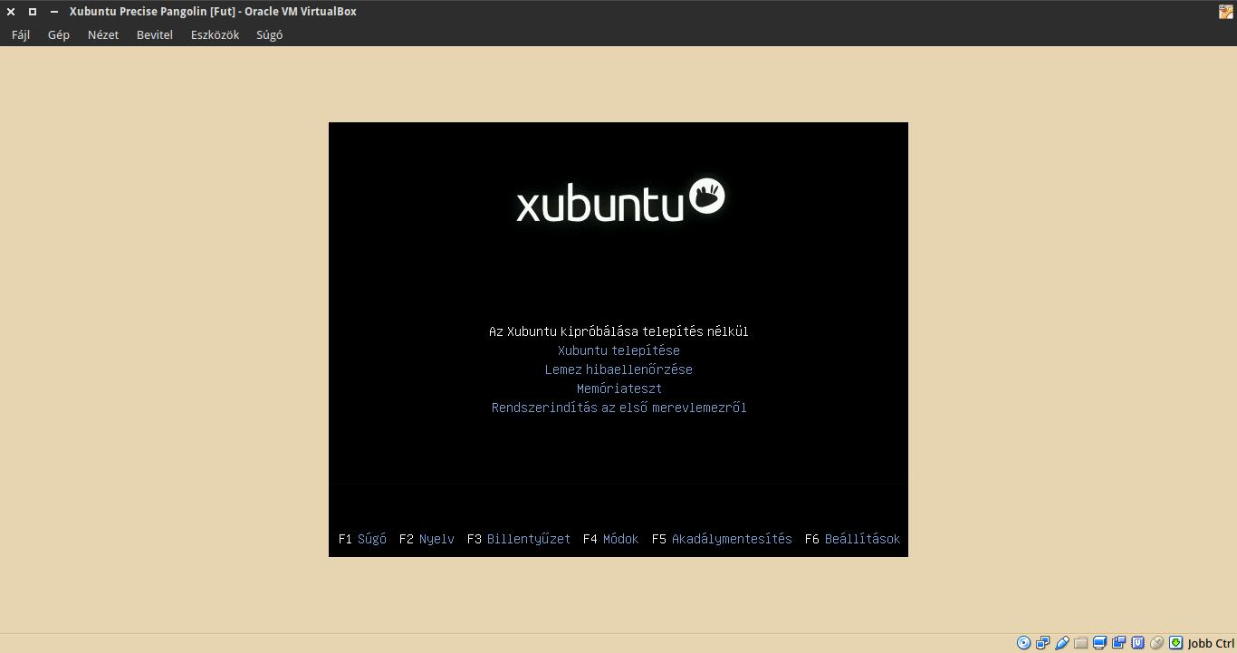 Xubuntu 12.04 boot menü