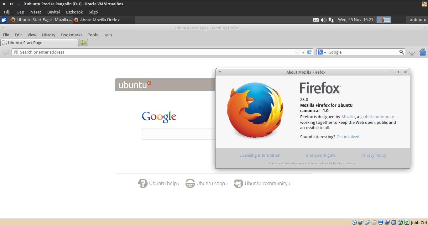 Xubuntu 12.04 Firefox
